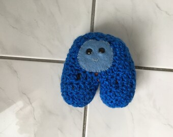 Crochet Mini Blue Alien Monster Plush