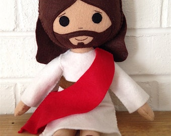 Catholic Felt Saint Doll - Jesus Christ - Wool Felt Blend