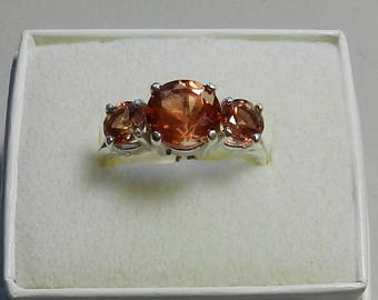 Oregon Sunstone and sterling silver ring    #321