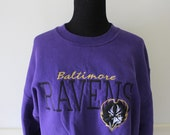 Vintage Baltimore Ravens Sweatshirt Size Medium 1996