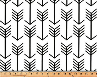 Black on White Arrow Geometric Curtains  Rod Pocket  63 72 84 90 96 108 or 120 Long by 24 or 50 Wide