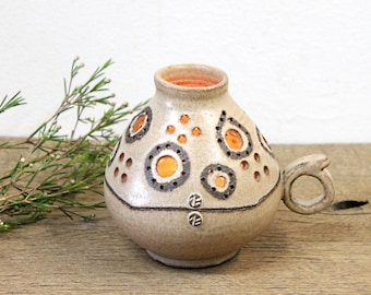 Ceramic Candle Holder, Pottery Candle Holder, Handmade Candle Holder, Pottery Candle Keeper, Handmade Ceramic Lamp, Candle Keeper