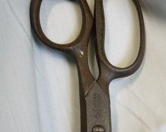 Vintage SCISSORS Forged Steel Shears Paper Stationary SOLINGEN German 12 in long