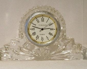 Vintage Crystal Small Mantle clock