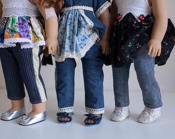 "Sloane 18"" Doll Skinny Pants PDF Pattern Tutorial,  Ebook, Epattern, Sizes 18"" Doll - American Girl Doll"