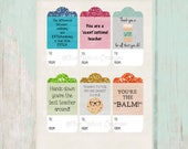Teacher Appreciation Gift Tags - INSTANT DOWNLOAD