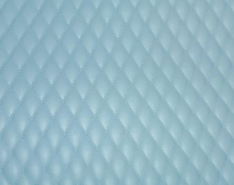 """Leather 12""""x12"""" QUILTED POWDER BLUE on blue 1/2"""" Pattern Cowhide 2.5-3 oz / 1-1.2 mm PeggySueAlso™ E2911-11"""