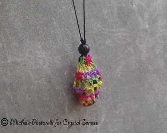 Interchangeable Macrame Tumbled Stone Necklace (INN0003)