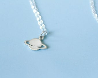 Saturn Necklace in Sterling Silver