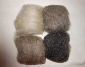 Natural color needlefelting wool