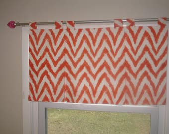 "Custom Valance - Box Pleated Valance - Up To 16"" Long x 34"" wide"