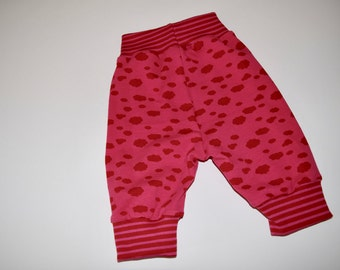 "Baby Pants for a Newborn Infant ""Pink Clouds"" Print Size: 68 (3-6 Months) - Perfect gift for little girls!"