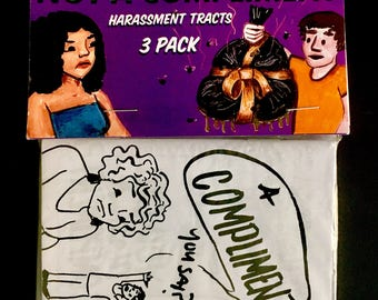 """Feminist Tracts for unwanted """"compliments"""" - 3 pack"""