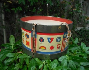 Ohio Art Co. Drum with Military Division Logos