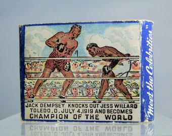 Rare World Champion Jack Dempsey v Willard Boxing Matchbook Original Matchcover Boxer NYC No Matches Used DanPickedMinerals