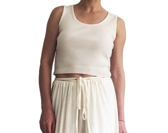 GREENECA crop tank top tee organic cotton jersey pyjama sleepwear summer beachwear