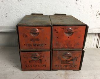 Small Metal drawers Vintage Dorman Products Industrial Cabinet