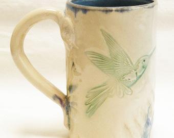 ceramic hummingbird mug 16oz stoneware 16D046