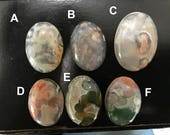 RESERVED for Phyllis - 2 Ocean Jasper Cabochons A & D
