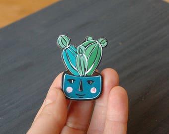 Cactus pin, cactus brooch , cactus gift , best friend gift , gift for friend , house plant , gift for her,cute cactus