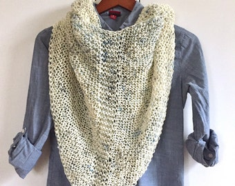 Speckled Hand Knit Wrap