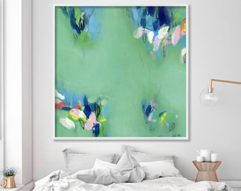 "Large wall, art ABSTRACT giclée print, up to 40x40"", modern Painting, Abstract Art, Acrylic Painting, Abstract Art green"