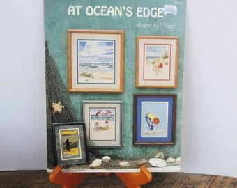 Vintage Cross Stitch Booklet At Ocean's Edge Designs by Nanci