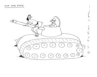 War and peace cartoon print