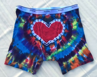 Tie Dye Heart-On (TM) Boxer Briefs IN STOCK - 3XL