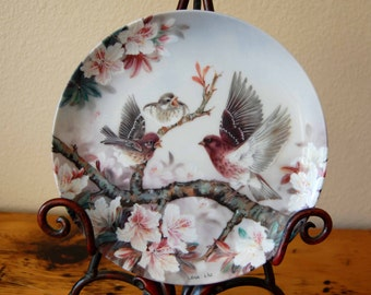 Vintage Lena Liu Melody at Daybreak Collectors Plate Vintage Lena Liu Nature's Poetry Series Collectors Plate from The Eclectic Interior