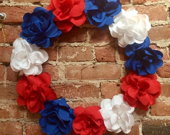"""Red, White, & Blue Wreath Large 21"""""""