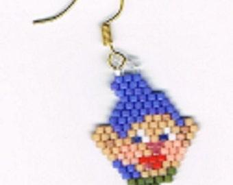A beautiful pair of Dopey head earrings
