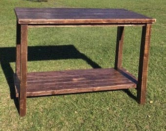 Reclaimed solid wood Kitchen island/restoration hardware inspired