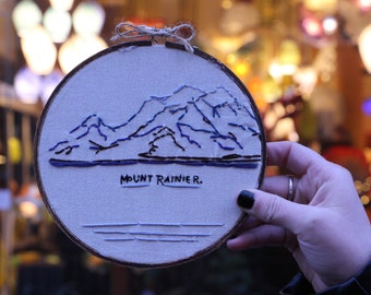 The Mountain's Out Hand Embroidery | Hand Embroidery | Embroidery