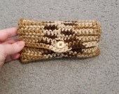Shades of Brown crochet small tissue holder