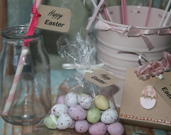 30 Happy Easter Gift Tags ~ Easter Tags ~ Tags for Easter Treats ~ Tags for Sweet Bags ~ Easter for Easter Boxes ~ Straws Toppers