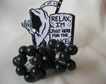 Vintage Grim Reaper Cake Decorations