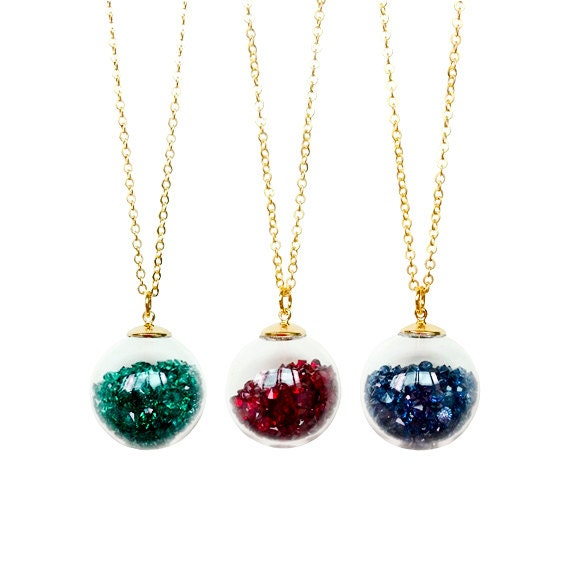 Crystal Glass Ball Necklace