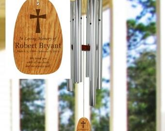 Engraved In Loving Memory Wind Chimes , Custom Wind Chimes , Memorial Wind Chimes