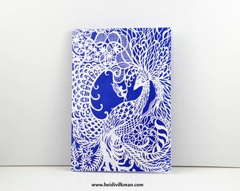 Dream Bird - Greeting Card - With Original Paper Cut Art - Fully Recycled