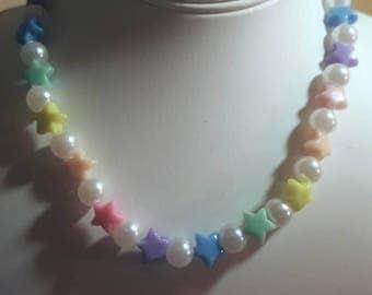 Pastel Kandi Stars Necklace