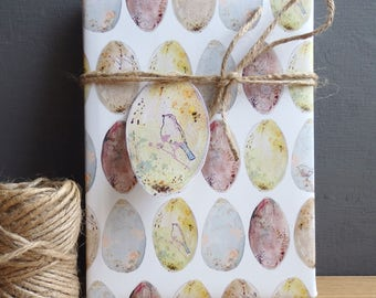 Easter gift wrap etsy easter gift wrap birds egg wrapping paper easter eggs gift wrap natural history negle Image collections