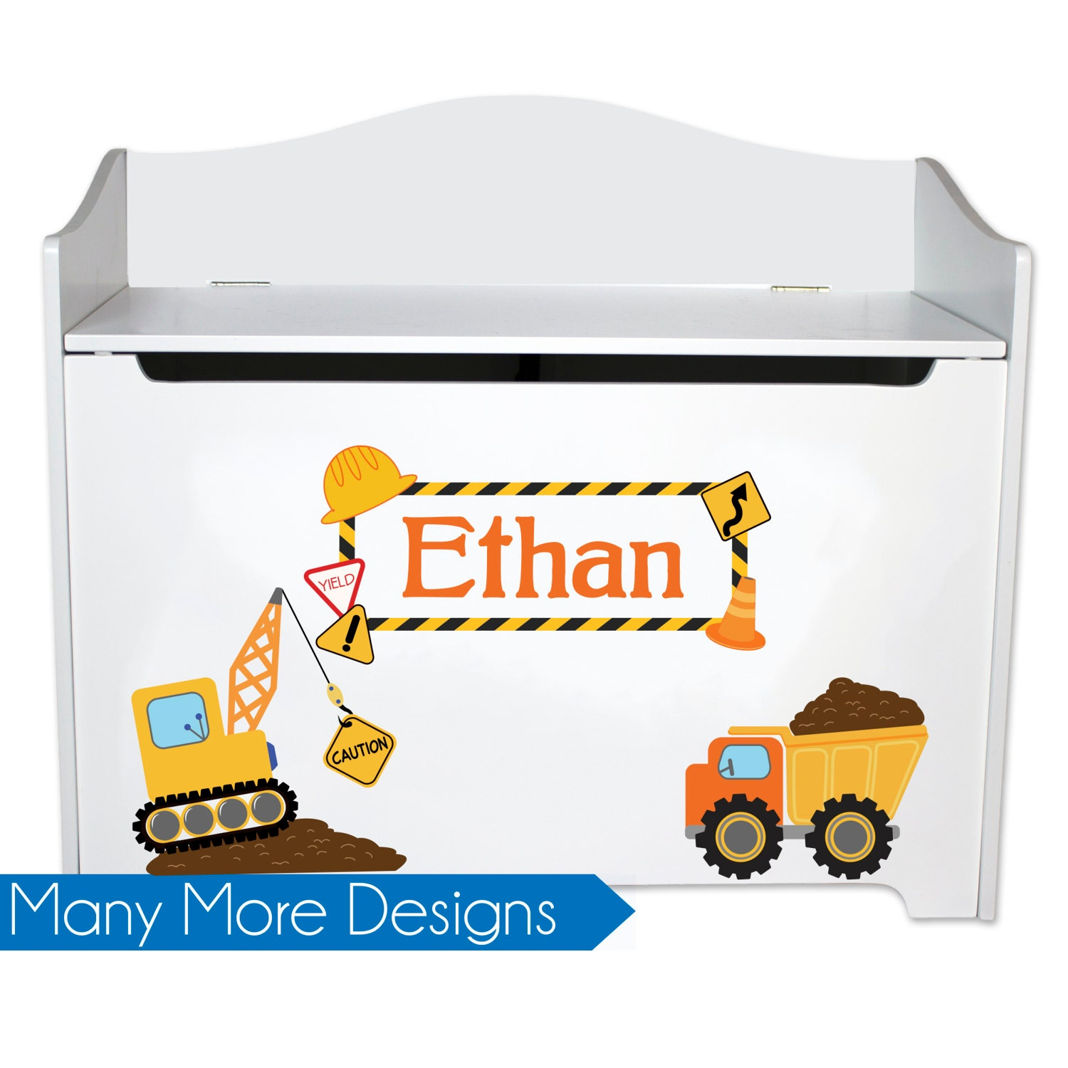 Cool Toy Box For Boys : Personalized toy box for boys kids toybox bench storage