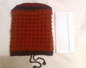 Pumkin & Rust Waffle Stitch Slouch Hat