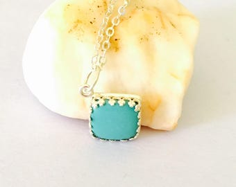 Vintage turquoise pendant, silver, stamped, Clearance Sale, item no. S245