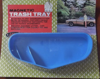 Vintage Classic Car Dashboard Tray Magnetic Trash Tray 1960's Auto Accessory