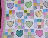Reseved for Coco-Miranda 9-Patch/Heart Applique Quilt