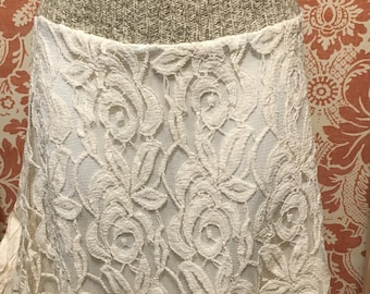 Upcycled Lace Sweater Skirt