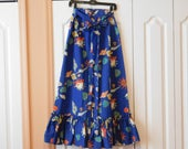 Reserved for Kikania Fabulous Vintage Summer Skirt - Great Print, Great Style, Great Look