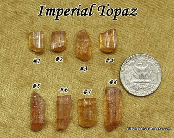 Imperial Topaz (Golden Topaz) raw stone for crystal healing